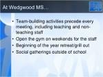 at wedgwood ms