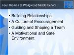 four themes at wedgwood middle school