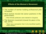 effects of the women s movement