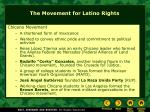 the movement for latino rights