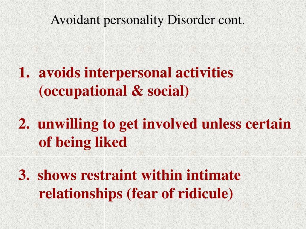 avoidant personality disorder essay