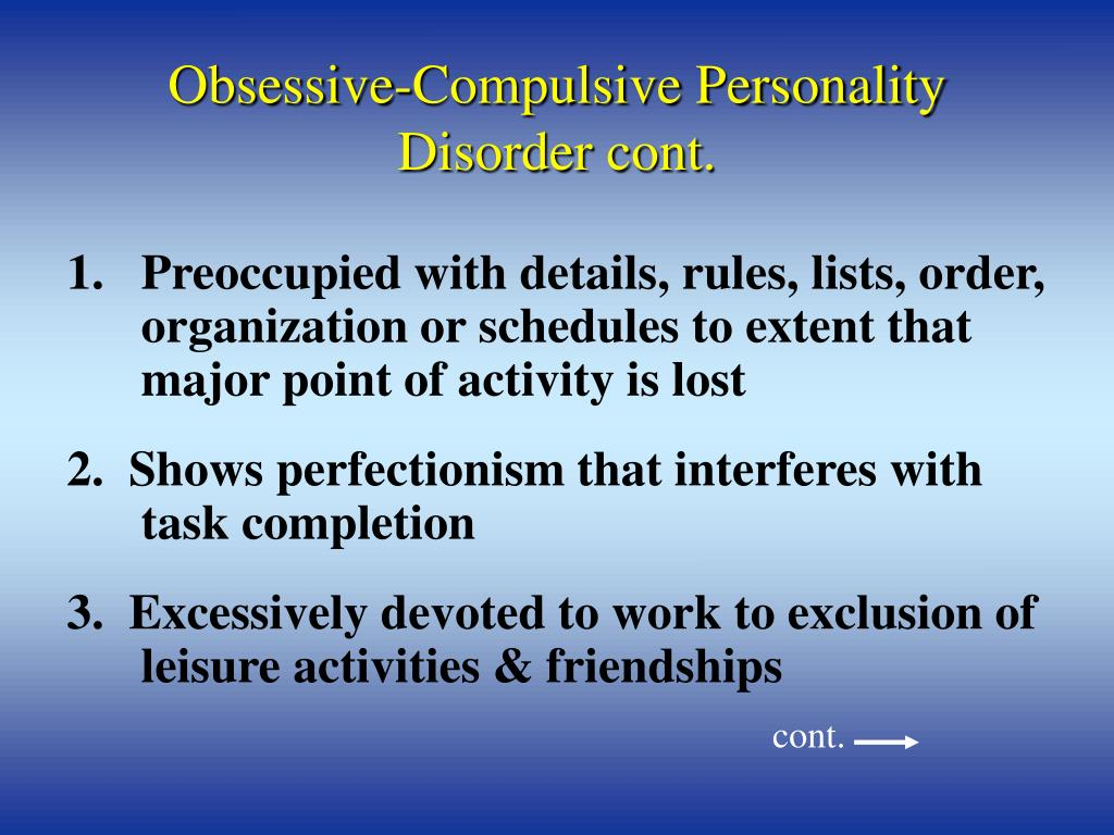 the origin and analysis of obsessive compulsive personality disorder
