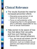 clinical relevance