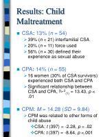 results child maltreatment