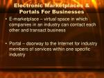 electronic marketplaces portals for businesses