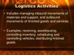 logistics activities