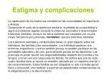estigma y complicaciones