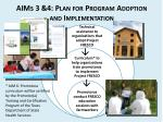 aims 3 4 plan for program adoption and implementation