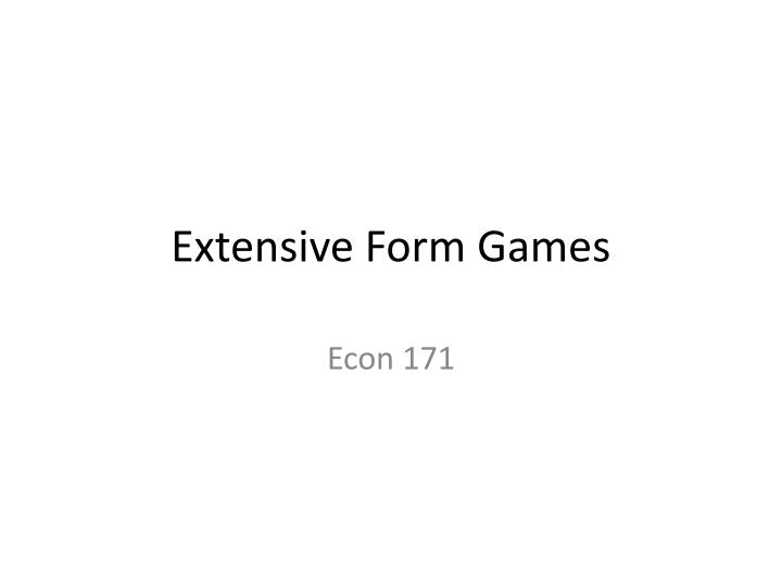 extensive form games n.