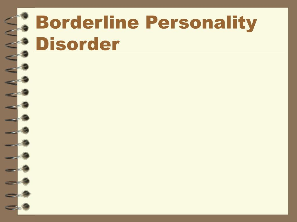 borderline personality disorder l.