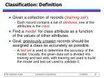 classification definition