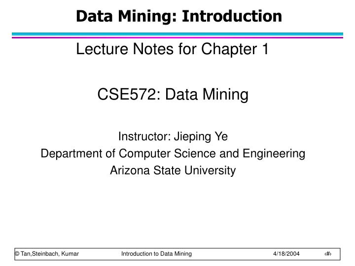 data mining introduction n.