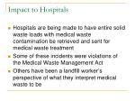 impact to hospitals