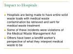 impact to hospitals