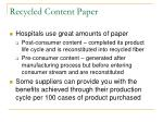 recycled content paper
