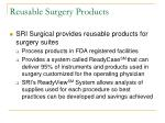 reusable surgery products