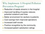 why implement a hospital pollution prevention program