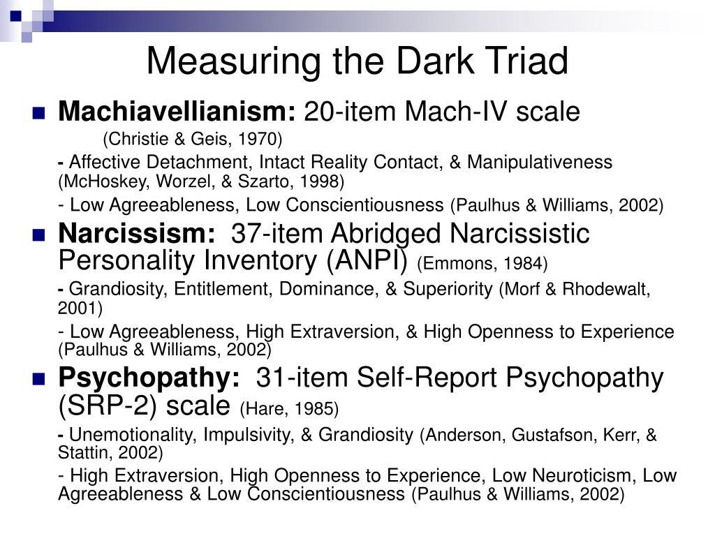 Measuring the Dark Triad