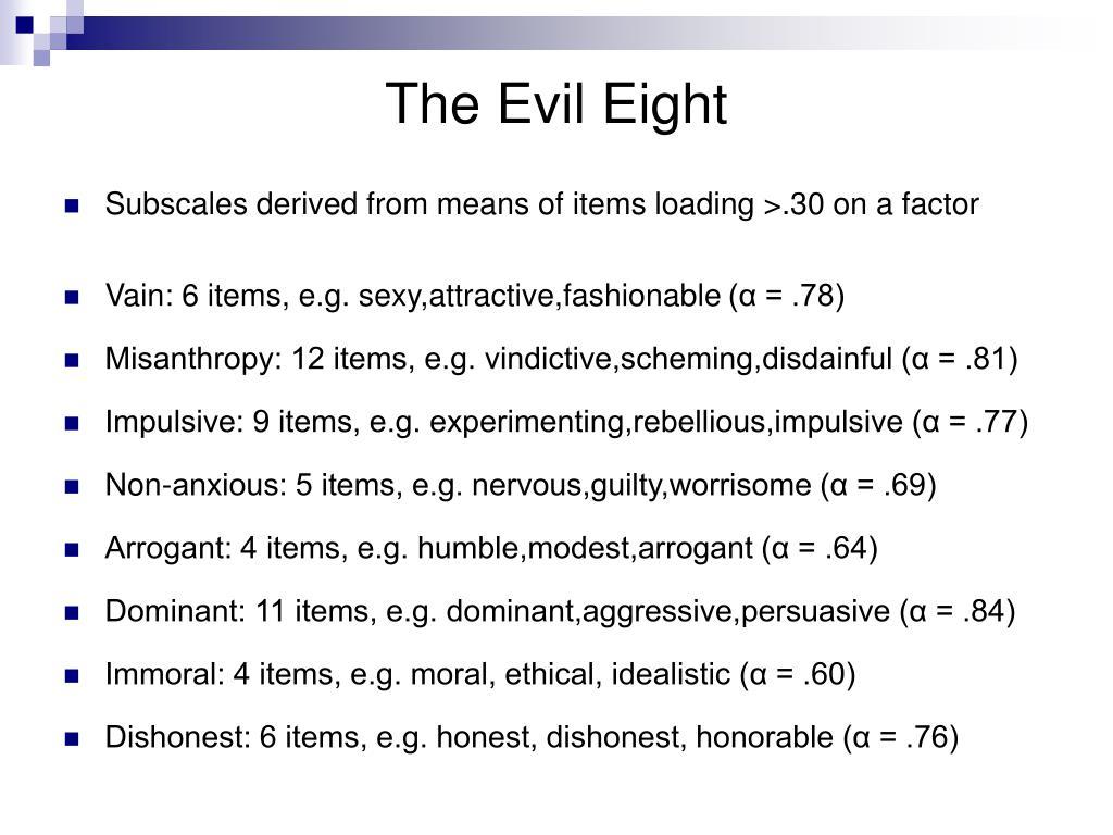 The Evil Eight