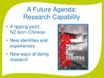 a future agenda research capability