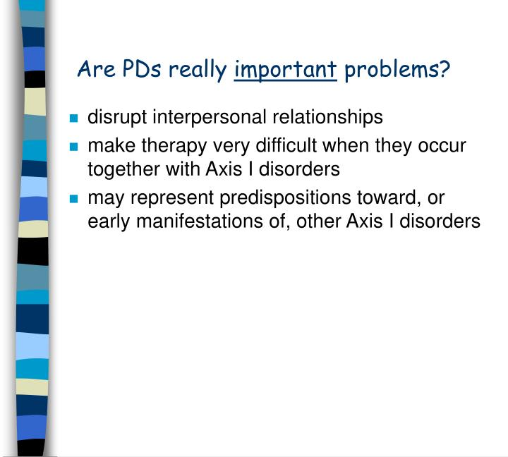 Are pds really important problems