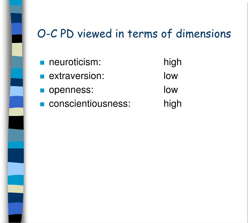 O-C PD viewed in terms of dimensions