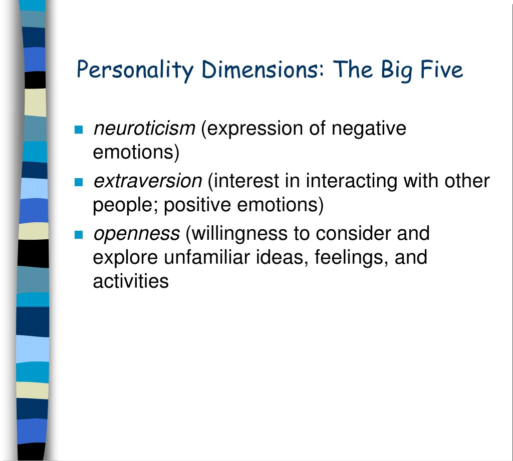 Personality Dimensions: The Big Five