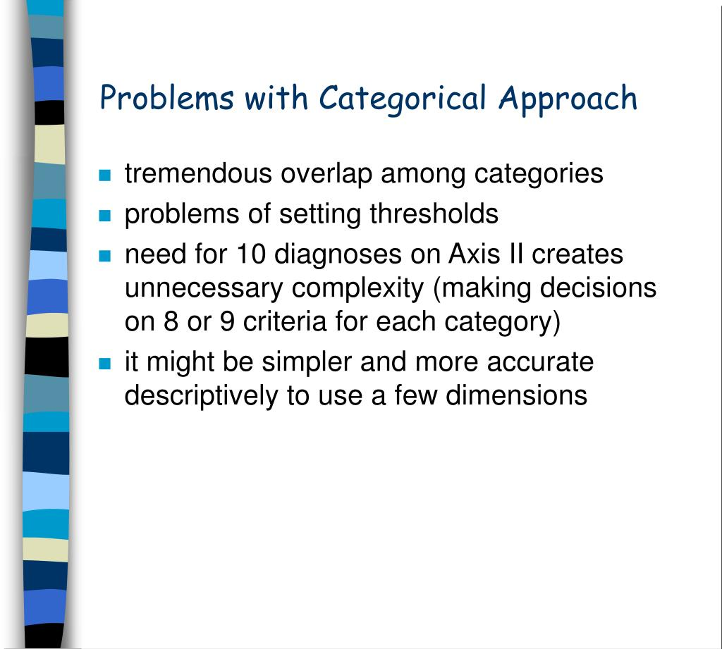 Problems with Categorical Approach