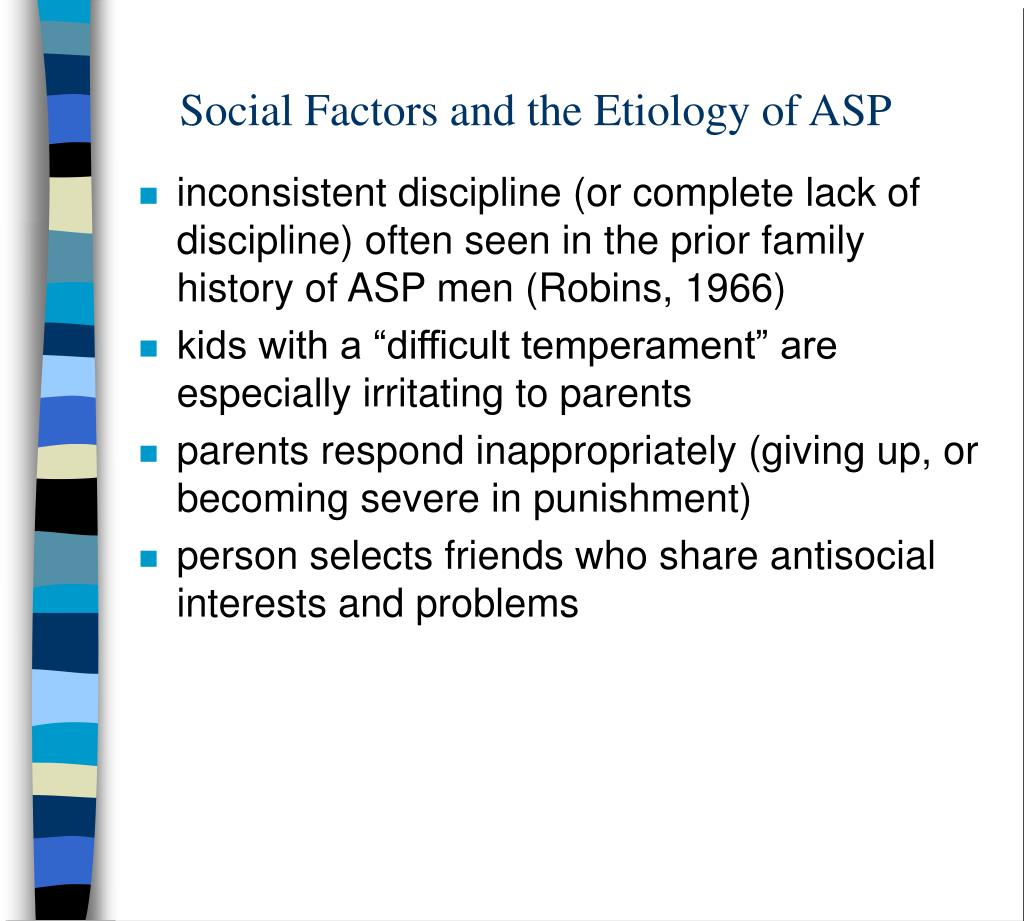 Social Factors and the Etiology of ASP