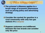 price setting game