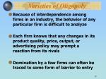 varieties of oligopoly1