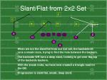 slant flat from 2x2 set