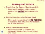 subsequent events1