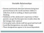 unstable relationships