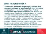 what is acquisition