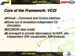 core of the framework vcci