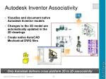 autodesk inventor associativity