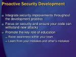 proactive security development