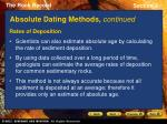 absolute dating methods continued1