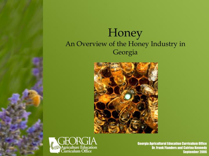 honey an overview of the honey industry in georgia n.