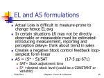 el and as formulations
