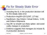 fix for steady state error