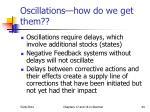 oscillations how do we get them