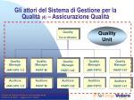 gli attori del sistema di gestione per la qualit 4 assicurazione qualit