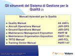gli strumenti del sistema di gestione per la qualit 3