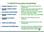 7 haccp principles simplified