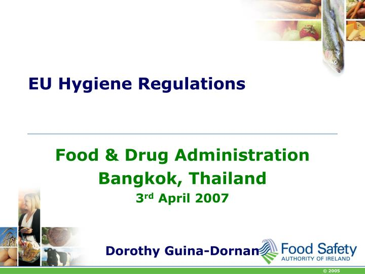 eu hygiene regulations n.