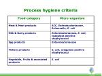 process hygiene criteria
