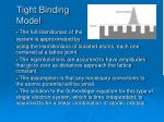 tight binding model