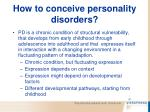 how to conceive personality disorders